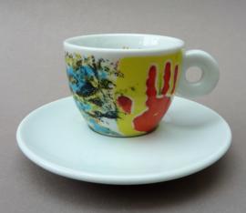 Illy Art Collection 1998 Los Ninos Cambieremos El Mundo espresso kop met schotel nr 14125