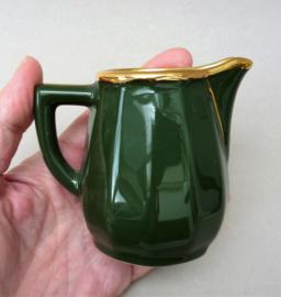 Apilco roomkannetje groen Vert Empire  met goud