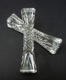 Kristallen messenlegger ruit en waaier slijpsel - set van twee