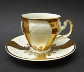 Bernadotte vergulde porseleinen demitasse espresso kopje