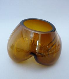 Organische Art Glass vaas in amber