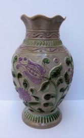 Bay West Germany vaas met bloemdecoratie model 62 30 lavendel zand