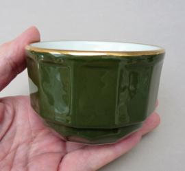 Apilco suikerpot groen Vert Empire met goud