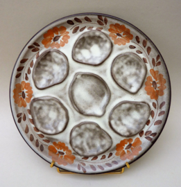 Niderviller faience oesterbord met bloemdecoratie