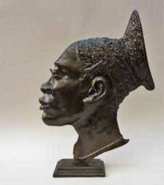 Bronzen sculptuur Afrikaanse vrouw in Hagenauer stijl