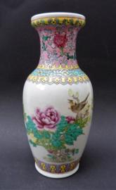 Chinese Jingdezhen porseleinen PROC vaas met bloesem vogel kalligrafie