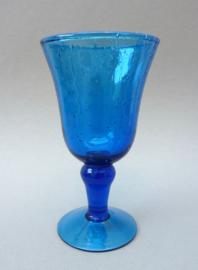 Biot France Traditional  bubbeltjesglas wijnglas Bleu de Perse