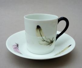 Limoges LC Art Deco lustreware porseleinen espresso kopje - set van vier