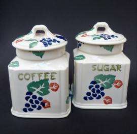 Royal Winton Tradition voorraadpotten suiker en koffie