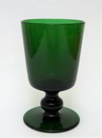 Victoriaans Bristol Green wijnglas
