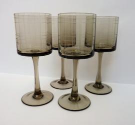 Scandinavische stijl geruit wijnglas - set van vier