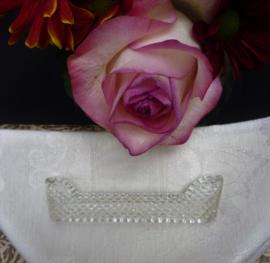 Antieke kristallen messenlegger diamant slijpsel