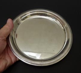 Verzilverde onderzetter voor koffie thee pot