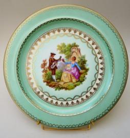 Gloria Alt Wien Fragonard courting couple high tea taart bord