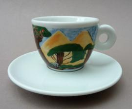 Illy Art Collection 1998 espresso kop met schotel nr 12203