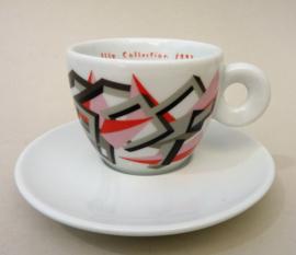 Illy Art Collection 1992 Arti e Mestieri Cosimo Fusco espresso kop Vaganti su Bianco