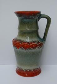 U Keramik West Germany vaas model 1815 25 avocado oranje