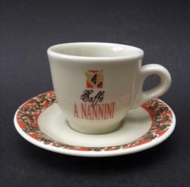 Vintage Nannini espresso kop met schotel