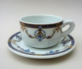 Limoges Marcel Chauvin bistroware cappuccino kop en schotel