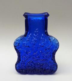 Scandinavisch glazen retro kobaltblauwe vaas Lars Hellsten Skruf Glasbruk Zweden