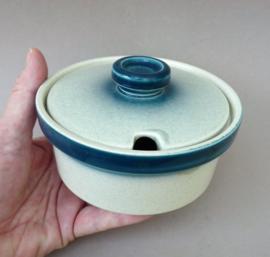 Wedgwood Blue Pacific jampot met deksel