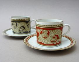 Mosa Maastricht espresso kop en schotel in neo klassieke stijl - set van twee