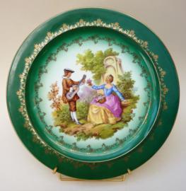 Gloria Rembrandt Fragonard courting couple high tea taart bord