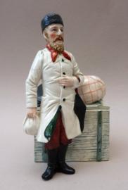 Antieke Duitse porseleinen tabaksdoos Koopman
