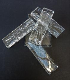 Val Saint Lambert kristallen messenlegger met floraal decor - set van zes