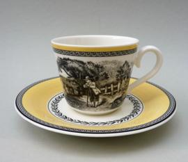 Villeroy Boch Audun Ferme koffiekop met schotel