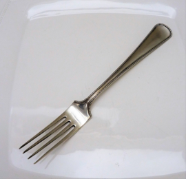 Zilveren tafelvork Parelrand Gerritsen Zeist 1924
