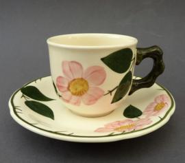 Villeroy Boch Wildrose koffiekop met schotel