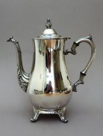 International Silver Company verzilverde koffiepot in Rococo Lodewijk XV stijl
