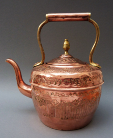 Antieke Marokkaanse koperen waterketel