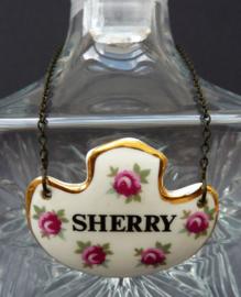 Royal Adderly vintage karaf label Sherry