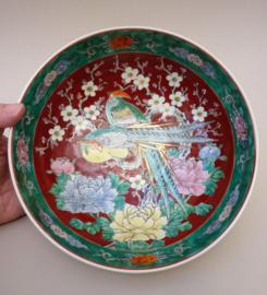 Antieke Japanse Yamatoku Paradijsvogel kom