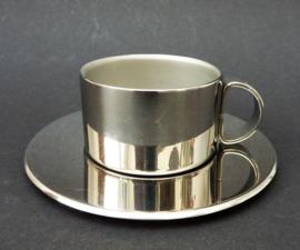 RVS dubbelwandige espressokop met schotel