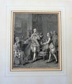 Antieke prent Jean Michel Moreau La Grande Toilette