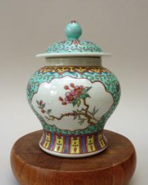 Chinese 1960 turquoise porseleinen Wan Shou gemberpot
