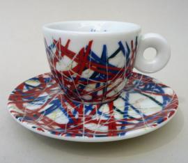 Illy Art Collection 1996 James Rosenquist Italian Riviera espresso kop met schotel 34384