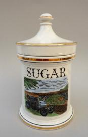 Portmeirion vintage apothekers vooraadpot voor suiker