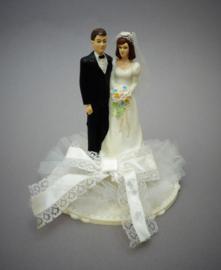 Vintage bruidstaarttopper uit de jaren zeventig