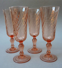 Luminarc France Rosaline champagne flute glas - set van vier