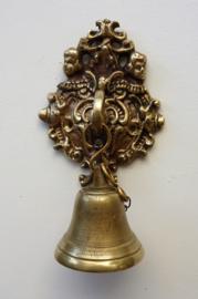 Antieke messing hangende receptie wand bel Rococo stijl