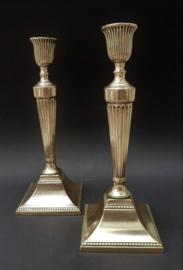 Kandelaars koper messing brons smeedijzer