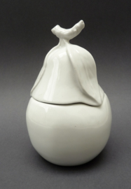 Apilco France whiteware porseleinen jampot Peer