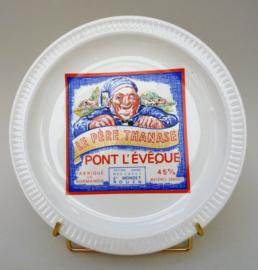 Faience kaasbord Fromages de France Pont L Eveque