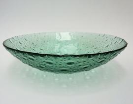 Pavel Panek Sklo Union Libochovice groene glazen druppel schaal
