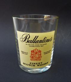 Vintage Ballantines whisky glas