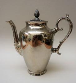 Kurz Tiel Art Nouveau zilvertinnen koffiepot